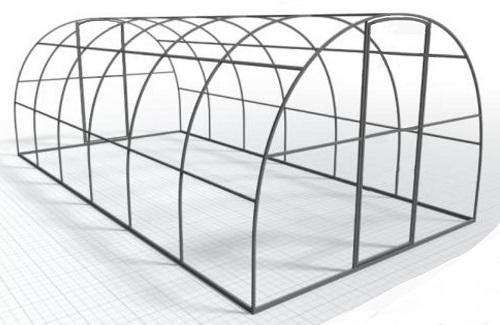 """Вставка """"Урожай 01"""" увеличивает теплицу на 2 метра. Дуги через 1 метр."""